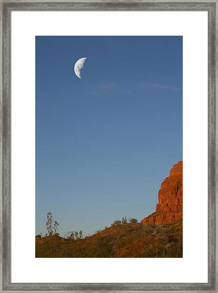 Moon Cliff Framed Print
