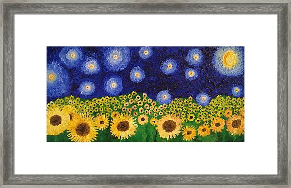 Moon Flowers Framed Print