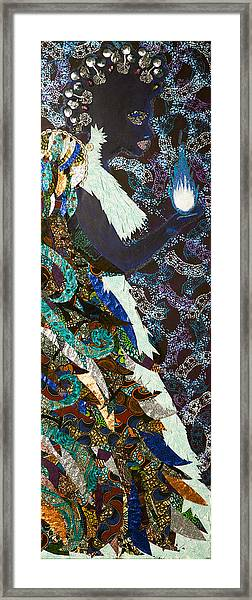Moon Guardian - The Keeper Of The Universe Framed Print