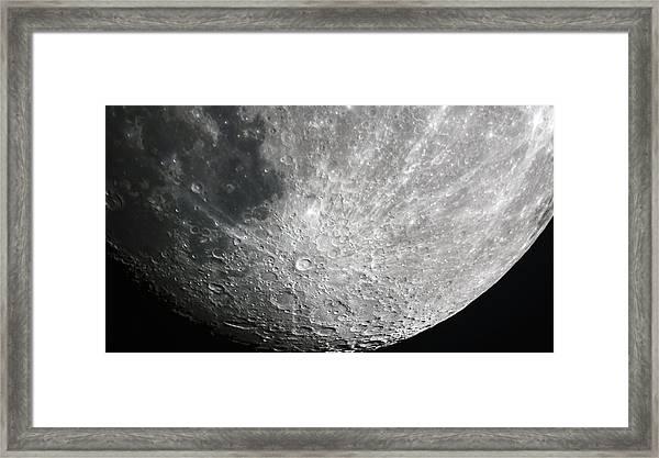 Moon Hi Contrast Framed Print