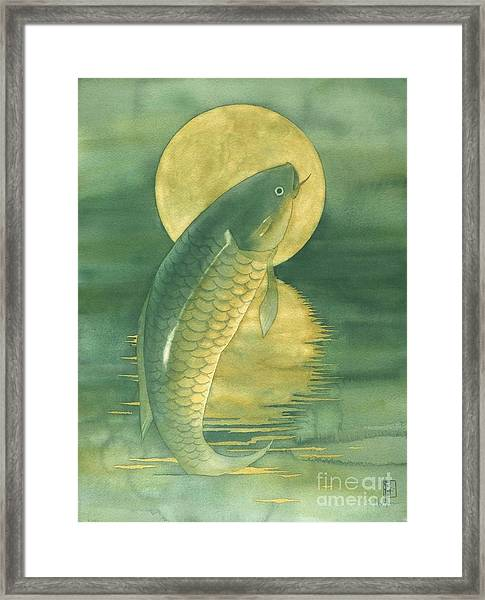 Moon Koi Framed Print