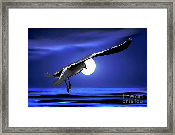 Moon Launch Framed Print