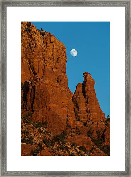 Moon Over Chicken Point Framed Print