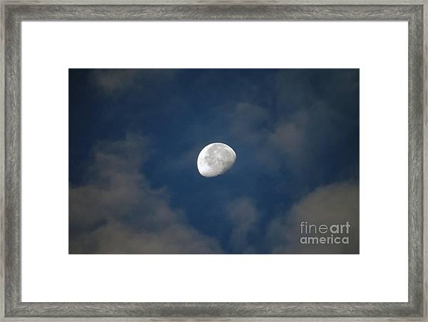 Moon Over Philadelphia Framed Print