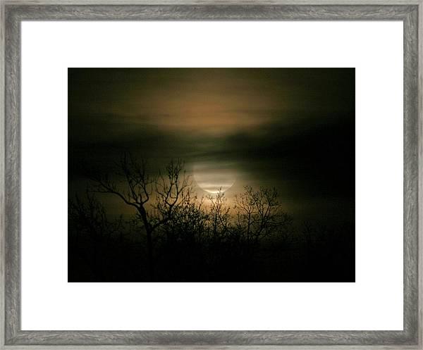 Moon Over Prince George Framed Print