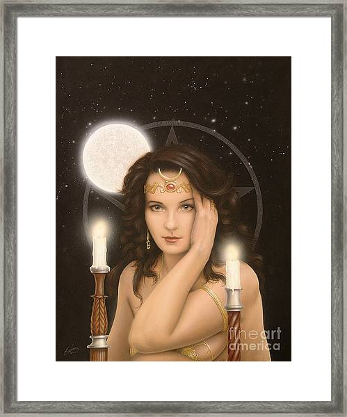Moon Priestess Framed Print