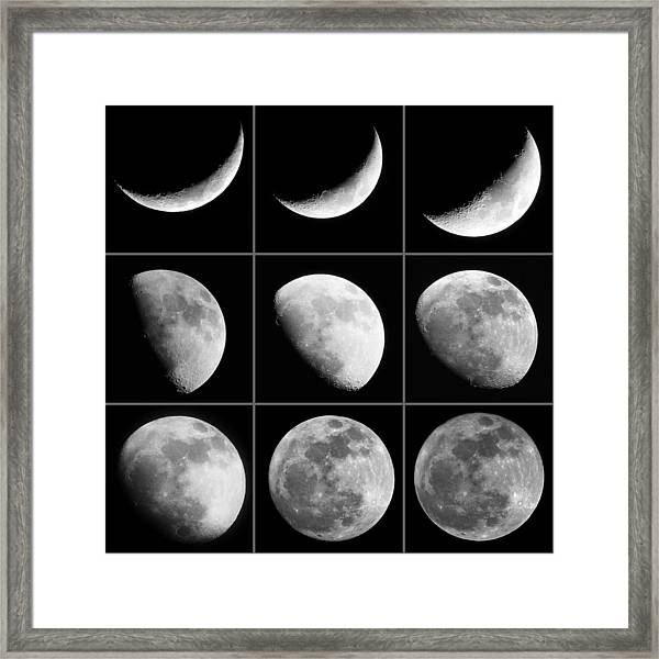 Moon Progression Framed Print