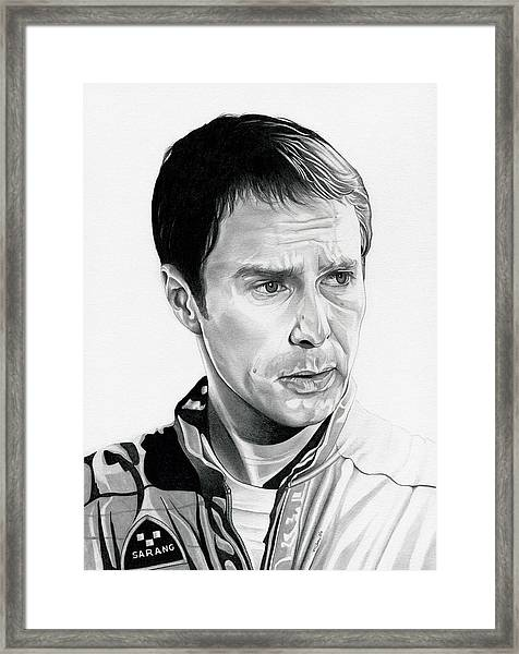Moon  Sam Rockwell Framed Print