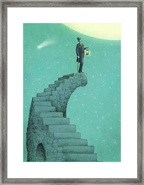 Moon Steps Framed Print