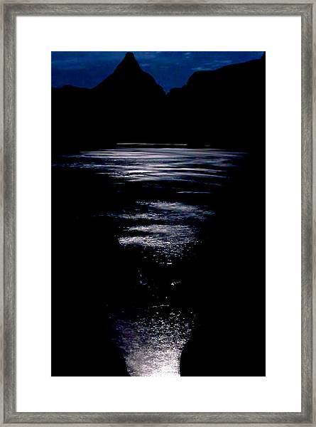 Framed Print featuring the photograph Moon Water by Britt Runyon