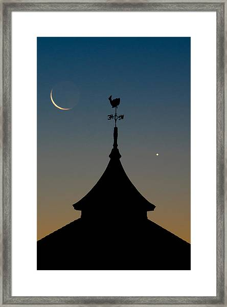 Moon Whale Venus. Framed Print