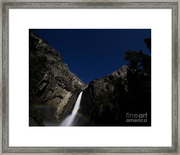 Moonbow And The Big Dipper Framed Print