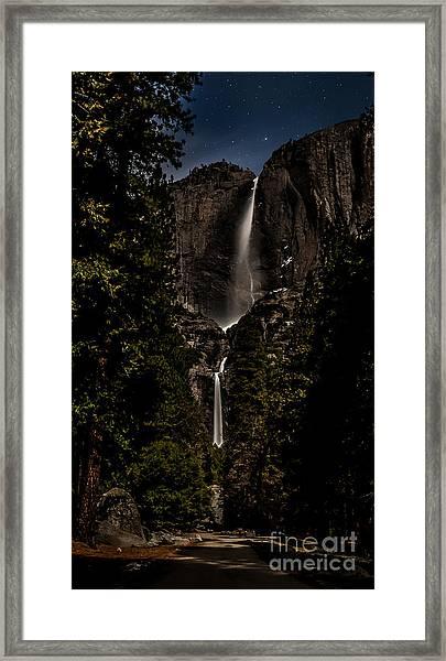 Moonlight Falls Framed Print