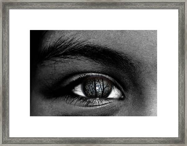 Moonlight In Your Eyes Framed Print
