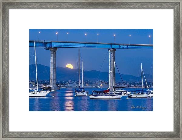Moonlight Mooring Framed Print