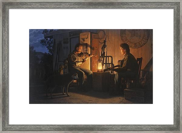 Moonlight Musicians Framed Print