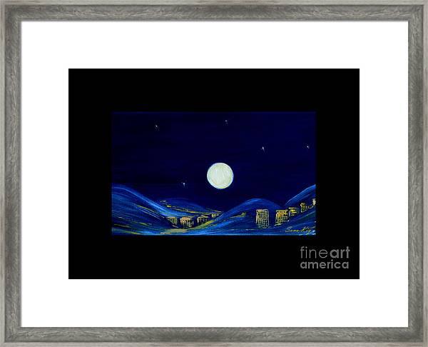 Moonlight. Winter Collection Framed Print
