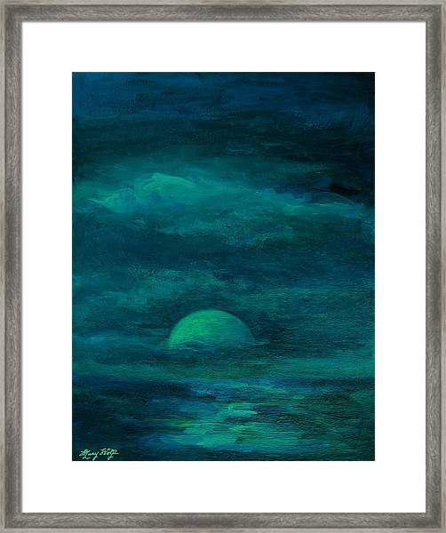 Moonlight On The Water Framed Print