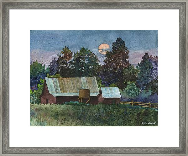 Moonlight Over Caribou Framed Print