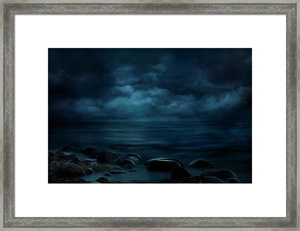 Moonlight Over Distant Shores Framed Print