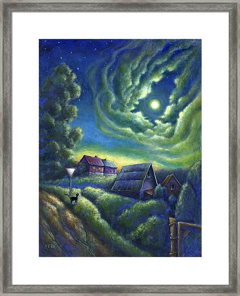 Moonlit Dreams Come True Framed Print
