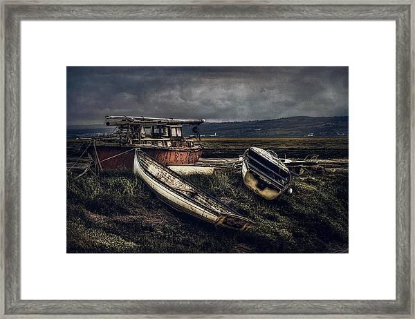 Moonlit Estuary Framed Print
