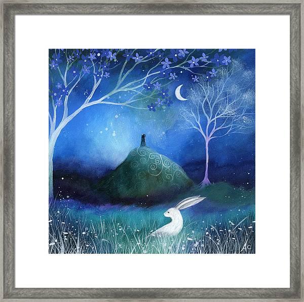 Moonlite And Hare Framed Print