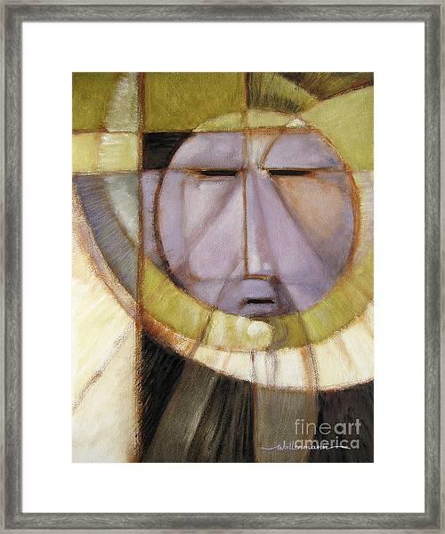 Moonmask Framed Print