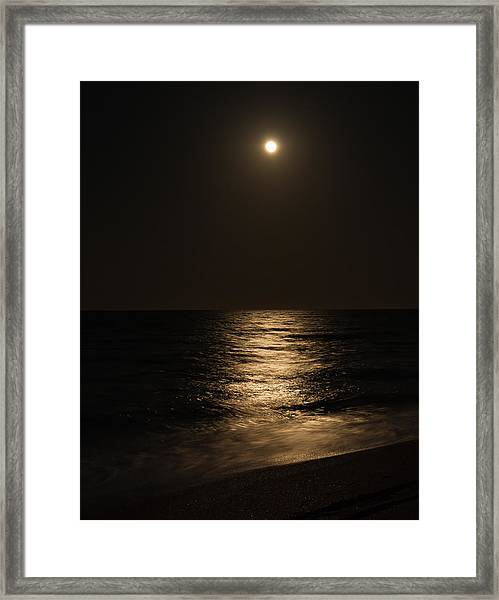 Moon Over Water Framed Print
