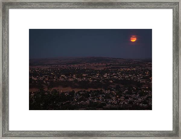Moonrise Over Paso Framed Print