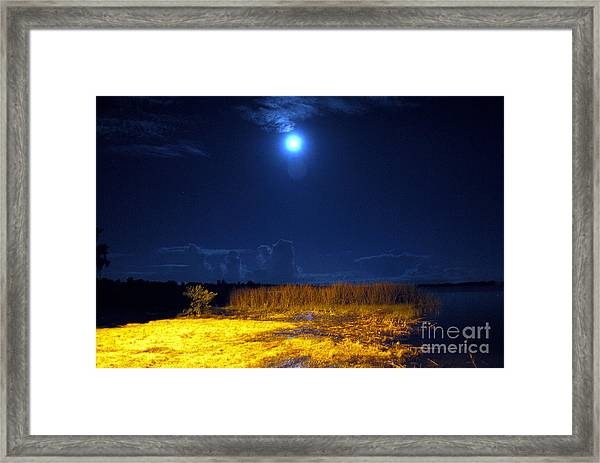Moonrise Over Rochelle - Landscape Framed Print