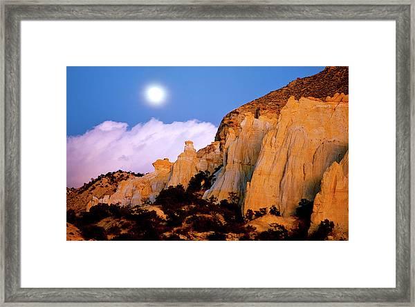 Moonrise Over The Kaiparowits Plateau Utah Framed Print