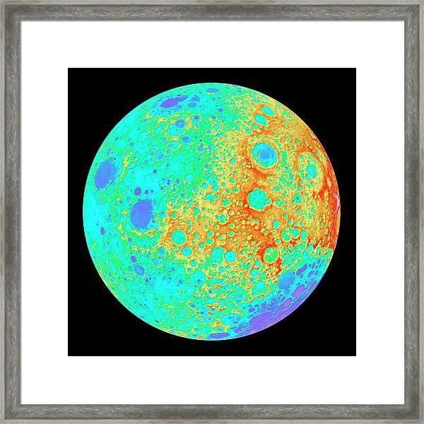 Moon's 120-degree Hemisphere Framed Print