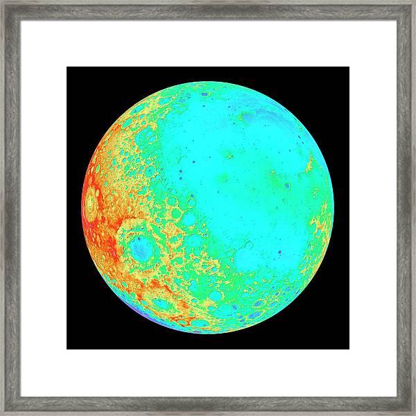 Moon's 300-degree Hemisphere Framed Print