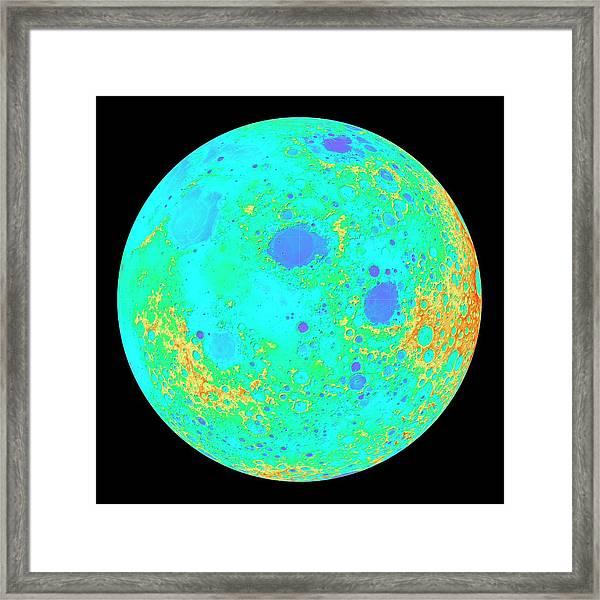 Moon's 60-degree Hemisphere Framed Print