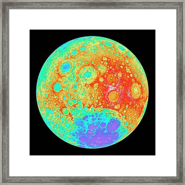 Moon's Far Side Framed Print