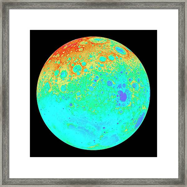Moon's Northern Hemisphere Framed Print