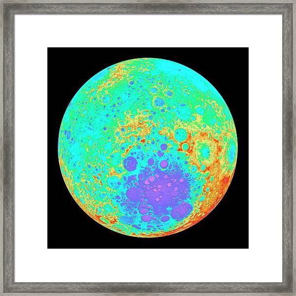 Moon's Southern Hemisphere Framed Print
