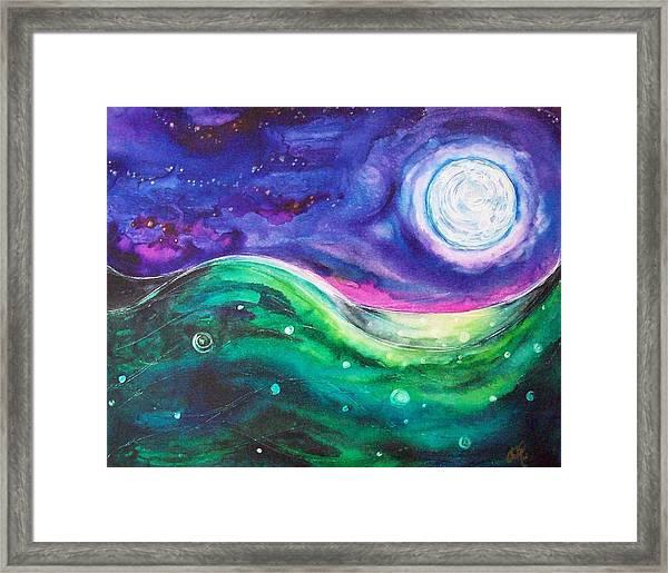 Moonscape Framed Print