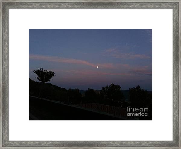 Moonshine In Cortona Framed Print