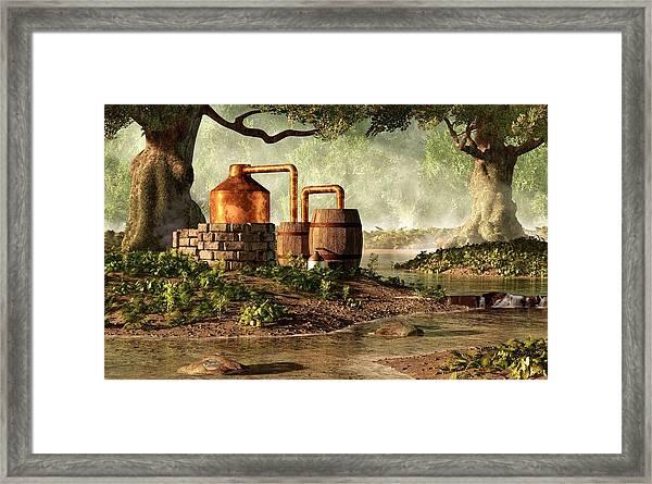 Moonshine Still 1 Framed Print