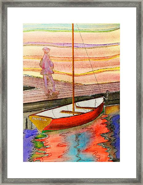 Moored Dinghy Framed Print