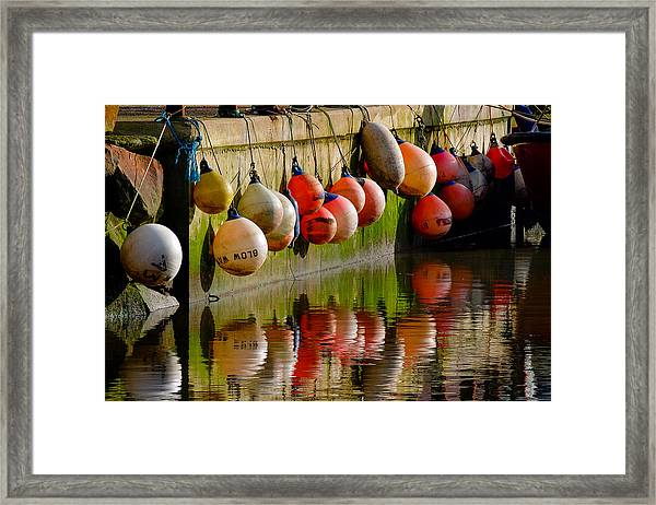 Mooring Buoys Framed Print