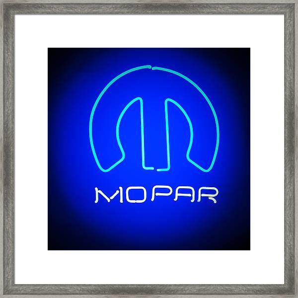 Mopar Neon Sign Framed Print