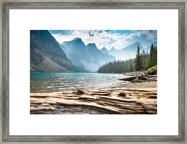 Moraine Lake In Banff National Park - Canada Framed Print by Franckreporter
