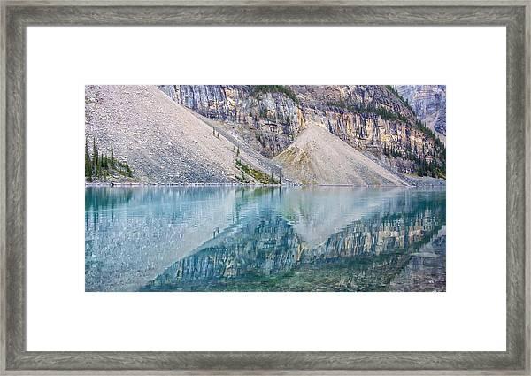 Moraine Lake Panorama A Framed Print