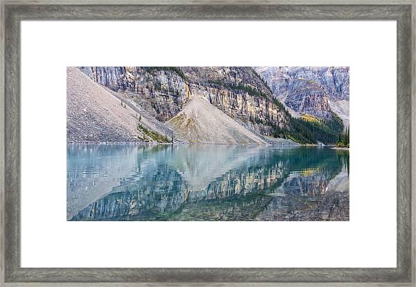 Moraine Lake Panorama B Framed Print