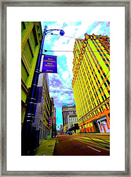 More Memphis On Monroe Framed Print