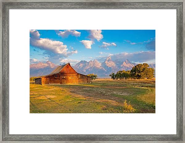 Mormon Row And The Grand Teton Framed Print