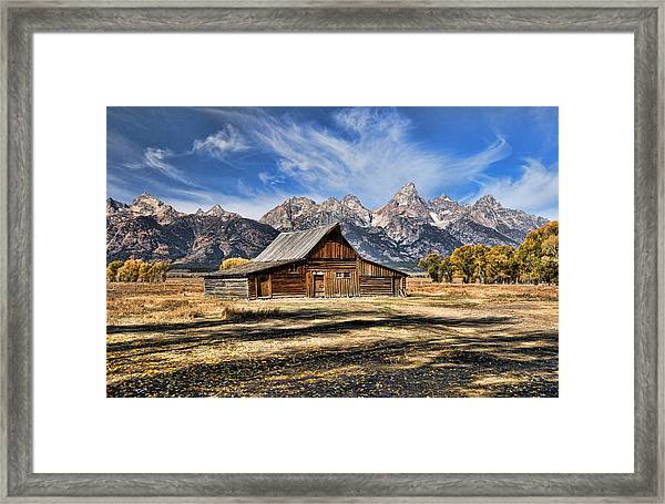 Framed Print featuring the photograph Mormon Row Barn by David Armstrong